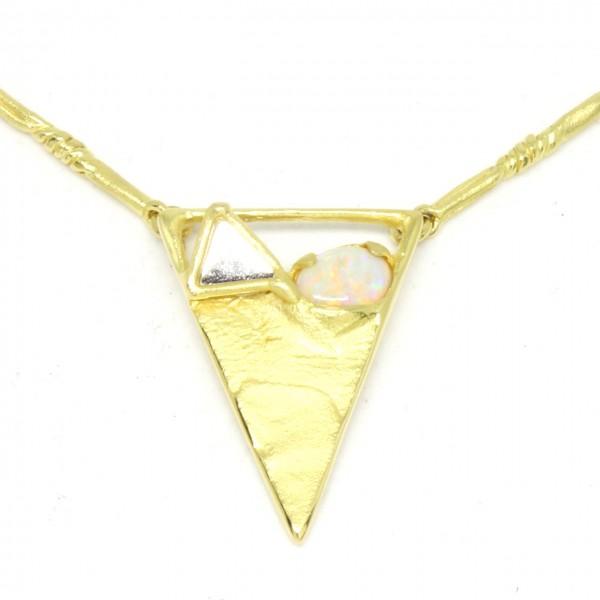 Collier 750/- Gelbgold mit Opal