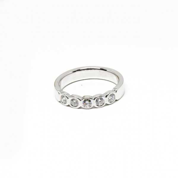 Memory Ring in 585 Weißgold 0,50 ct