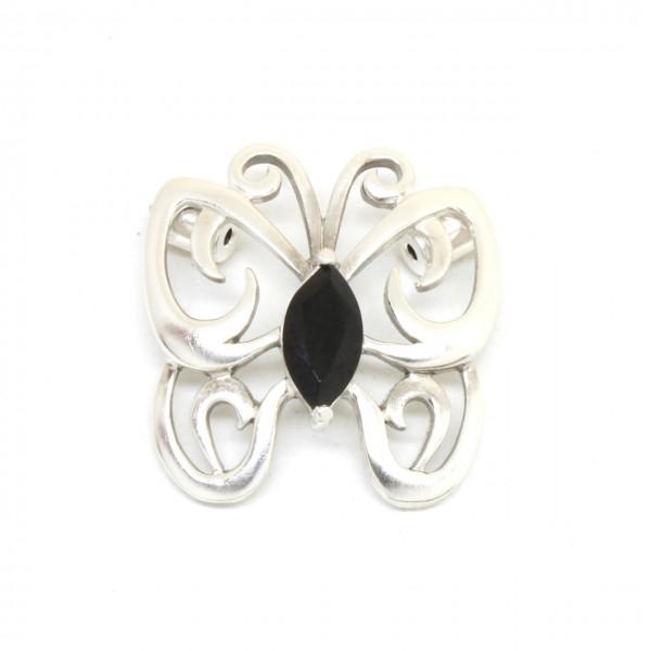 Wechselschließe Schmetterling in Silber
