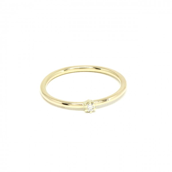 Ring in 585 Gelbgold mit 0,06 ct Brilliant