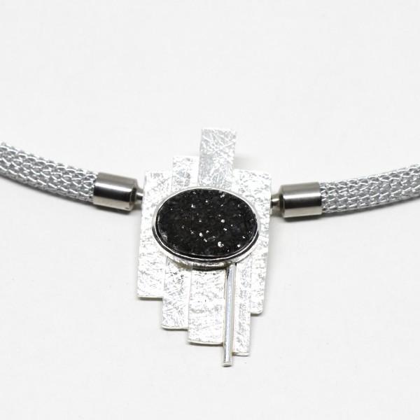 Wechselschließe Handarbeit in Silber Kristallachat