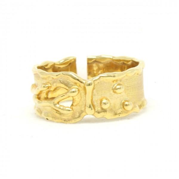Ring in 333/- Gelbgold Pünktchen