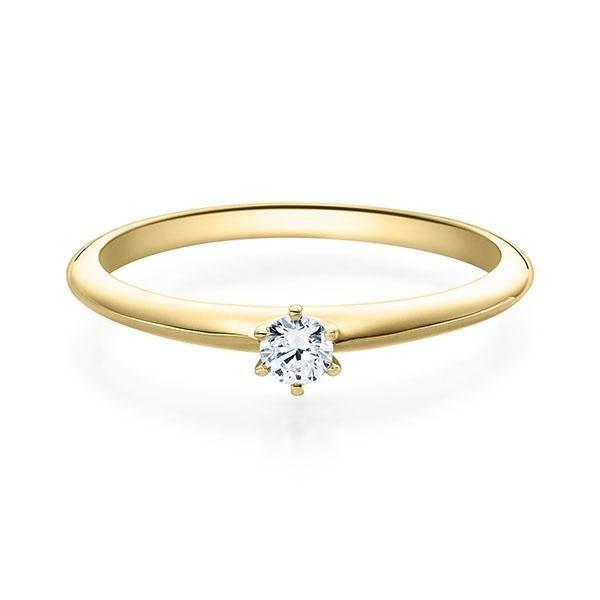 Verlobungsring Gelbgold 585/- 0,08 ct