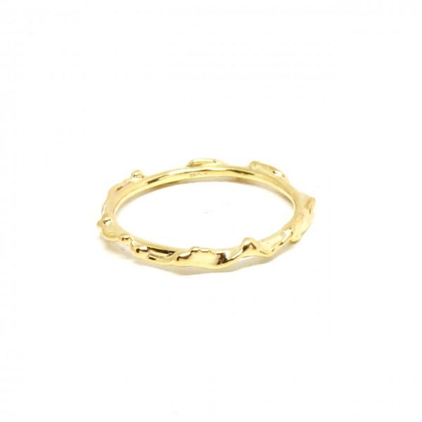Ring in 333 Gelbgold wilde Optik
