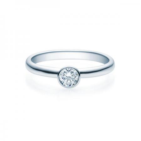 Verlobungsring Weißgold 585/- 0,20 ct