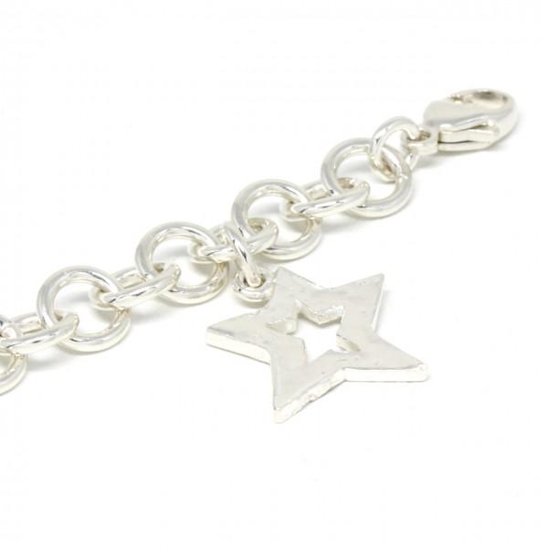 Armband Silber Handarbeit mit Stern
