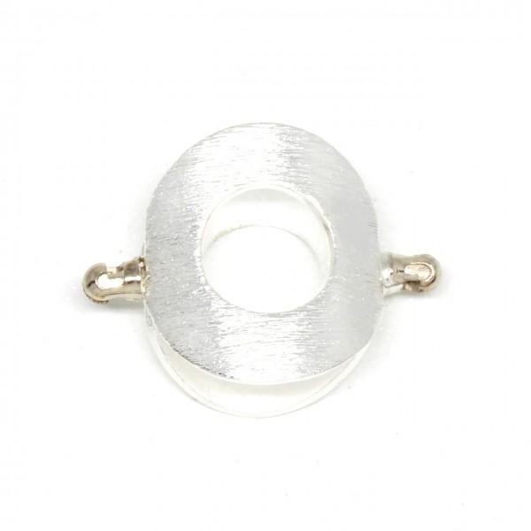 Doppelseitiger Adapter Silber Oval matt
