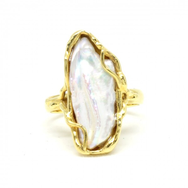 Ring in 333/- Gelbgold mit Perle