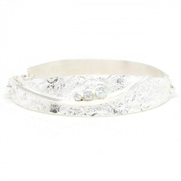 Armband Silber Spange mit Zirkonia