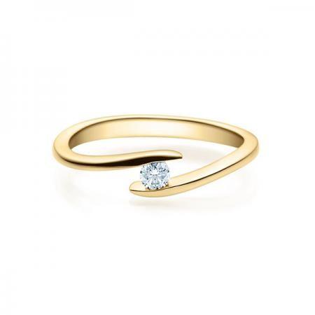 Verlobungsring Gelbgold 585/- 0,12 ct
