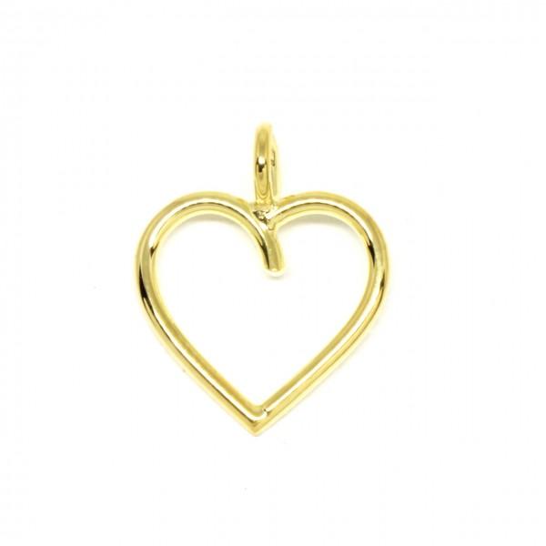 Anhänger filigranes Herz 585 Gelbgold
