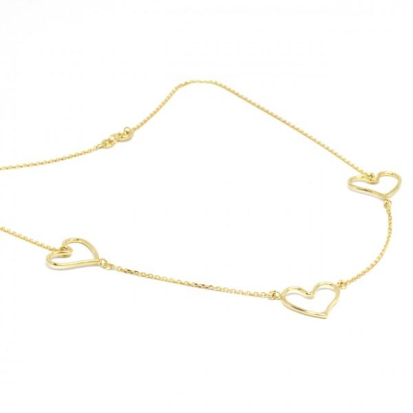 Collier 333 Gelbgold mit Herzen